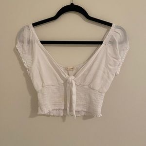 Pacsun white crop top